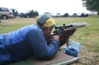 Prone Shooting Position Using Front Rest